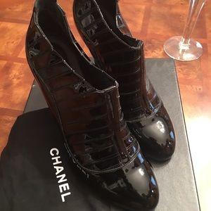 Channel short boots black